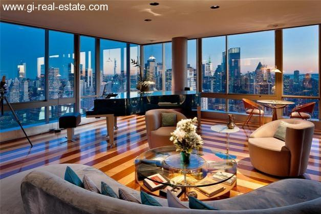 immobilien weltweit new york upper west side manhattan penthouse apartment mit 3. Black Bedroom Furniture Sets. Home Design Ideas